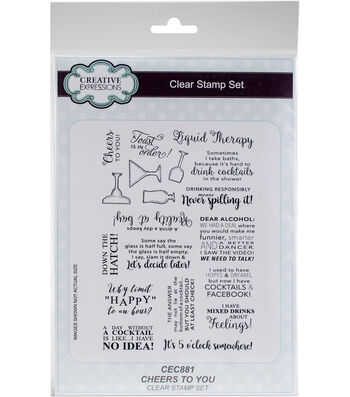 Creative Expressions 19 pk Clear Stamp Set-Cheers to You