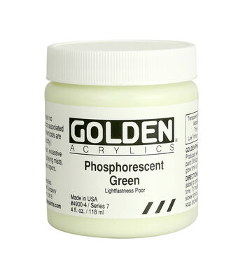 Golden Acrylics 4oz.-Phosphorescent Green