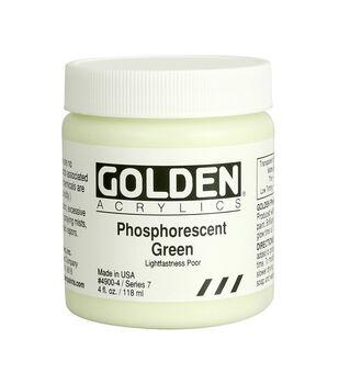 Golden Acrylics 4oz.-Phosphorescent Green