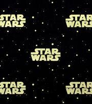Star Wars Cotton Fabric -Metallic Logo, , hi-res