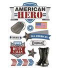 Paper House 4.5\u0027\u0027x8.5\u0027\u0027 3D Stickers-American Hero