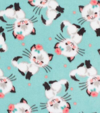 "Anti-Pill Plush Fleece Fabric 58""-Pretty Kitty"