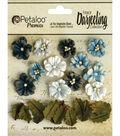 Darjeeling Teastained Petite Flowers .625\u0022 & .875\u0022 24/Pkg