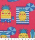Blizzard Fleece Fabric-Happy Pineapple