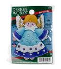 Design Works 3\u0027\u0027x4\u0027\u0027 Angel Ornament Felt Craft Kit-Blue