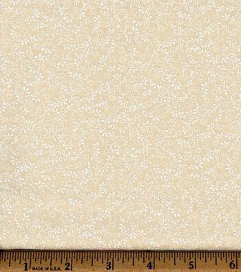 Keepsake Calico Cotton Fabric -Floral Vine on Natural