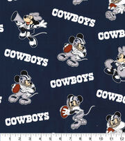 Dallas Cowboys Cotton Fabric-Mickey & Minnie Mouses, , hi-res