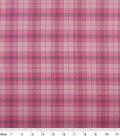 Nursery Cotton Fabric 43\u0022-Pink Plaid