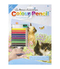 Royal Langnickel Kittens Color Pencil By Number Kit
