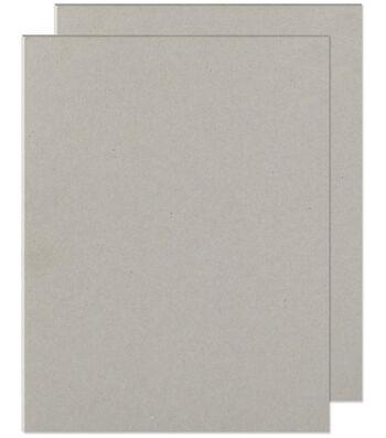 "We R Memory Keepers 8-1/2""x11"" Cinch Book Board-2PK/Grey"