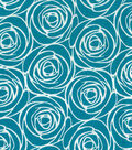 Quilter\u0027s Showcase Cotton Fabric 44\u0027\u0027-Floral Outline on Turquoise