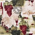 Anti-Pill Plush Fleece Fabric-Wine Country