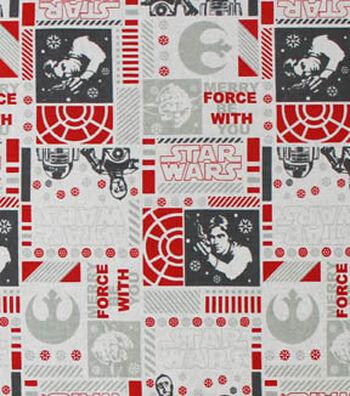 "Star Wars Cotton Fabric 44""-Christmas"