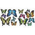 Wall Pops Butterfly Appliques, 27 Piece Set
