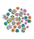 Little Makers Adhesive Foam Stickers-Flowers