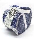 Jelly Roll Cotton Fabric 2.5\u0027\u0027-Assorted Navy & White Patterns