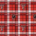 Texas Tech University Red Raiders Fleece Fabric -Plaid