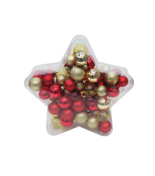 Handmade Holiday Crimson Traditions 100 pk Boxed Shatterproof Ornaments