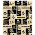 Purdue University Boilermakers Fleece Fabric -Block