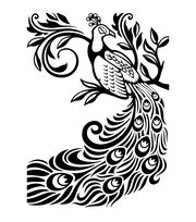 Darice Peacock Embossing Folder, , hi-res
