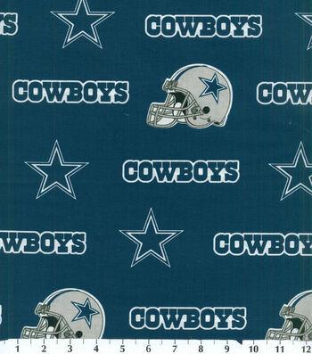 Dallas Cowboys Cotton Fabric -Blue