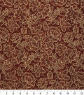 Harvest Cotton Fabric -Gold Flowers