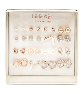 hildie & jo 16-pair Rose Gold Earrings