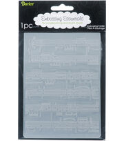 "Embossing Folder 4.25""X5.75""-Sheet Music, , hi-res"