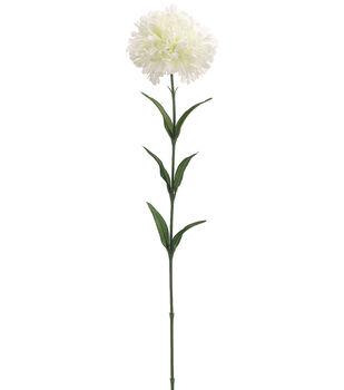 """Bloom Room 25"""" Carnation Stem-White"""