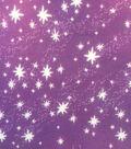 Doodles Juvenile Apparel Cotton Fabric-Stars on Pink & Purple Ombre