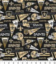 New Orleans Saints Cotton Fabric-Retro, , hi-res