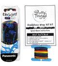 Pretty Twisted Headphone Wrap DIY Kit W/Earphones-Reggae