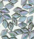 Beadsmith GemDuo`s Czech Glass Beads-Blue Azure