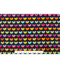 Anti-Pill Fleece Fabric 59\u0022-Bright Hearts On Navy