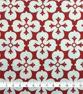 Knit Prints Pima Cotton-Red White 4-Petal Flower