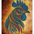 RTO Diamond Mosaic Embroidery Kit 40X50cm-Rooster Of The Water