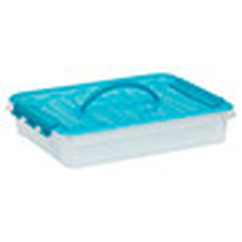 Snapware Smart Store 16 x 3 with turquoise handles and lid