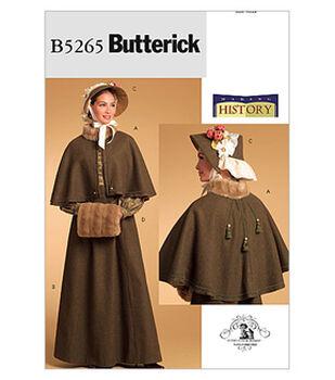 Butterick Pattern B5265-Cape, Skirt, Bonnet and Fur Muff