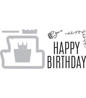 Sizzix Framelits Katelyn Lizardi Die & Stamp Set-Happy Birthday #3