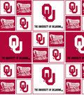 University of Oklahoma Sooners Cotton Fabric 43\u0027\u0027-Block