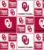 University of Oklahoma Sooners Cotton Fabric 43''-Block, , hi-res
