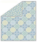 No-Sew Throw Fleece Fabric 72\u0022-Baby Blue Medallion