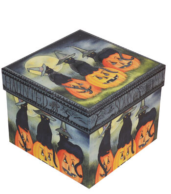 Organizing Essentials Large Square Box-Haunting Halloween