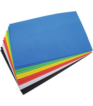 "Darice Foamies Foam Sheets 12""x18"" 12/Pkg-Basic Colors"