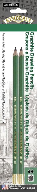 General Pencil Kimberly 2 pk No.4B Graphite Drawing Pencils