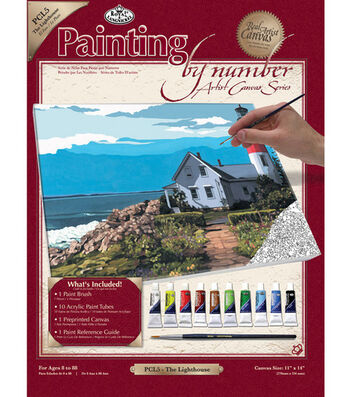"""11""""x14"""" Paint By Number Kit-The Lighthouse"""