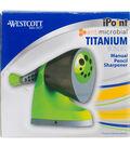 Westcott iPoint Titanium Bonded Manual Pencil Sharpener