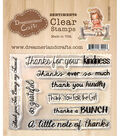 Dreamerland Crafts Sentiments Clear Stamp Set-Thank You 001