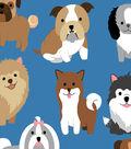 Anti-Pill Fleece Fabric -Puppies Party