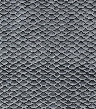 "Cosplay By Yaya Han Metallic Textured Scales Fabric 51""-Silver"
